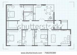 architectural floor plan architectural floor plan house illustration cottage stock