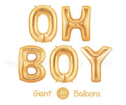 balloon decorations mylar number letter oh boy balloons 40 inch gold mylar balloons in