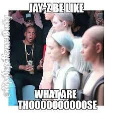 Kanye And Jay Z Meme - all eyez on memes kanye west s fashion show drake s collaborative