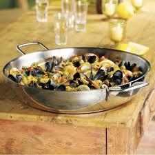 demeyere cuisine demeyere stainless paella pan 14 8 qt sur la table
