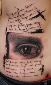 cool eye and writing by florian karg tattoomagz