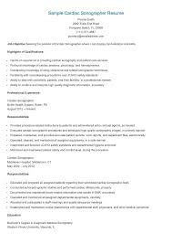 Resume Samples Canada by Sample Echo Sonographer Resume Resume Samples Resame Pinterest