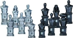 justice league chess set by dc comics popcultcha