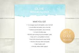 Resume Template Docx Resume Template Ms Word Feminine Resu Design Bundles