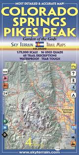 Colorado Hunting Units Map by Colorado Springs U0026 Pikes Peak Trail Map 4th Edition Kent Schulte