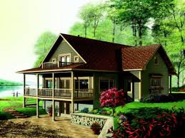 narrow lake house plans baby nursery lake cottage plans lake house plans walkout