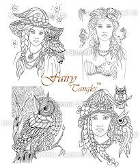 fairy tangles 4 fairy tangles digi stamps coloring sheets