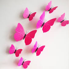 12pcs 3d butterfly sticker art wall stickers decals room