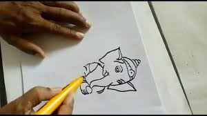 how to do ganesha painting for kids step by step youtube