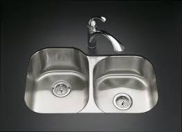 Kitchen Sinks Stainless Steel Lustertone Undermount Stainless - Kohler stainless steel kitchen sinks undermount