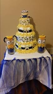 despicable me baby shower diaper cake baby shower ideas