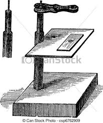 eps vectors of microscope simple vintage engraving microscope