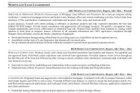 Mortgage Resume 12 Mortage Loan Officer Resume Sample Originator Resume
