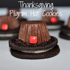 thanksgiving pilgrim hat cookies a great thanksgiving food craft