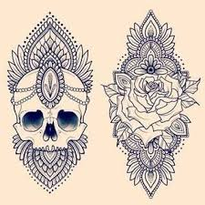 skulls and roses skulls and roses mandala tattoo and mandalas