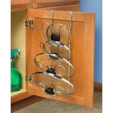 kitchen cabinet door pot and pan lid rack organizer 4 lid organizer for pots and pans holder cabinet door