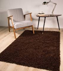 Modern Shaggy Rugs by Stockholm Luxury Chocolate Brown Dense Pile Soft Shaggy Rug