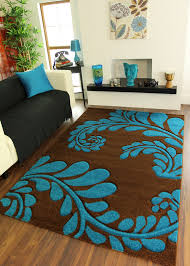 Chocolate Brown Area Rugs Teal And Brown Area Rugs Roselawnlutheran