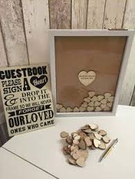Rustic Wedding Guest Book Time Capsule Wedding Guestbook Write Notes Time Capsule And