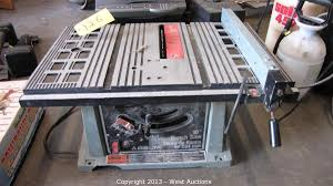 Bench Top Table Saws West Auctions Auction Carpet Cleaning Van Motorhome And