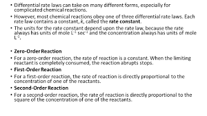 chemical kinetics in many reactions the rate of reaction changes as the reaction progresses