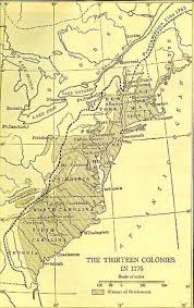 colonial map the thirteen original colonies map