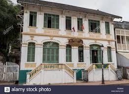 french colonial house luang prabang laos stock photo royalty free