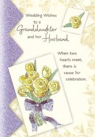 Wedding Wishes Greeting Card Wishes To A Granddaughter And Her Husband Premium Inspirational