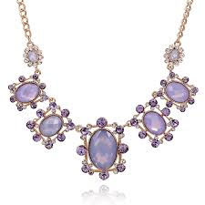 light purple necklace images Fashion oval green crystal cord black pendants beads necklace lady jpg
