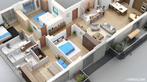 apartment designs shown with rendered 3d floor plans youtube