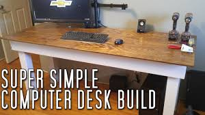 super simple computer desk build youtube
