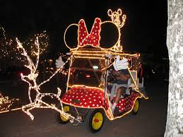 decorated golf cart golf carts minnie mouse and mice