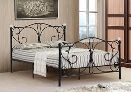 4ft Bed Frame 4ft 4ft6 5ft King Black Or White Metal Bed Frame With