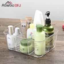 Acrylic Desk Organizer Acrylic Compartment Desk Organizer Transparent Bathroom Cosmetic