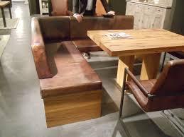 eckbank landhausstil massivholz vintage leder eckbank mit rustikalem balkeneiche esstisch und