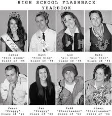 highschool year book flashback high school inspired party booth ideas photo booth