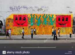 new york mural lower east stock photos new york mural lower east united states new york city manhattan lower east side keith haring s work