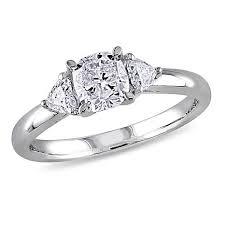 gold diamond engagement ring 14k white gold 0 95ctw 3 diamond engagement ring 8657321 hsn