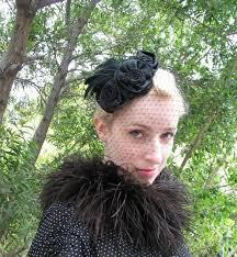 funeral veil black feather hat black birdcage veil feather fascinator