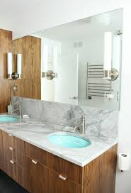 Large Bathroom Mirrors by Bathroom Update Kohler Purist Sconces Mounted On A Sheet Mirror