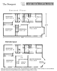 newport by westchester modular homes two story floorplan