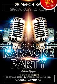 get karaoke party free psd flyer template facebook cover flyer