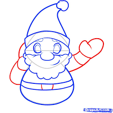 how to draw santa for kids step by step people for kids for