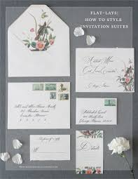 wedding invitation suites flat lays how to style wedding invitation suites kelsey malie