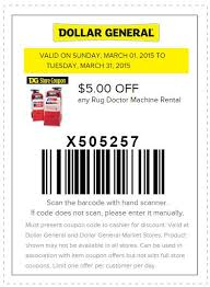 Who Rents Rug Doctors Dollar General Coupon 5 Off Any Rug Doctor Machine Rental