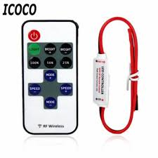 2017 icoco 12v rf led light mini wireless switch controller