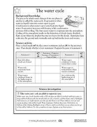 Water Cycle Worksheet Pdf 5th Grade Science Worksheets The Water Cycle Greatschools