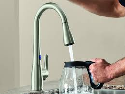 touch free kitchen faucet sink faucet amazing delta touch kitchen faucet troubleshooting