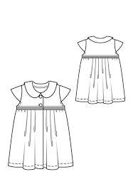 pleated baby dress 07 2012 145 u2013 sewing patterns burdastyle com