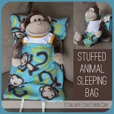 make a sleeping bag for a stuffed animal animal sons and